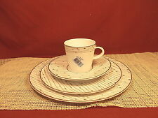 Raynaud Fine China Pluies D'argent (Red) Pat 4 Piece Setting + Accent Saucer New