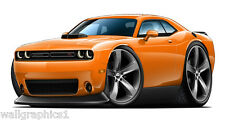 2015 Dodge Challenger Scat Pack 392 HEMI Shaker Hood Wall Stickers Decals Cling