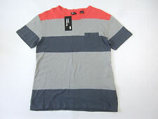 LEVIS CALIFORNIA 377760019 STRIPED RED GRAY LARGE POCKET TSHIRT MENS NWT NEW
