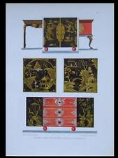 MEUBLES ART DECO -1924- LITHOGRAPHIE, OTTO RUCKERT, MOBILIER, CHINOISERIE