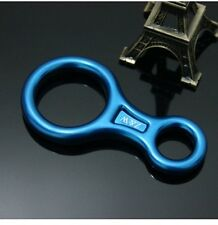 HOT Blue Climbing Mountaineering Equipment Eight Rings 35 KN 8 Style Carabiners
