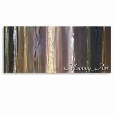 CONTEMPORARY BROWN GOLD CREAM WHITE ORIGINAL PAINTING ABSTRACT ART CANVAS ART XL