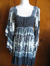 New w/tags Free People women's blue relaxed fit short lined dress size Small