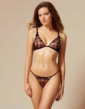 AGENT PROVOCATEUR PEEK-A-BOO PETRA BRA 34B 34D 36D & THONG SIZE 4 LARGE UK12-14
