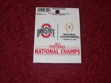 """""""OHIO STATE BUCKEYES"""" 2014 FOOTBALL NATIONAL CHAMPIONS SMALL STATIC DECAL"""