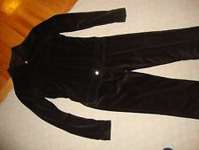 SPECTACULAR NEW $1,500 BROWN VELOUR YVES SAINT LAURENT JEAN JACKET AND PANT SET