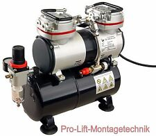 2 Zyl. Airbrush Kompressor AS-196 Airbrushkompressor 40 l/min wartungsfrei 01764