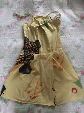 KENZO ladies Dress With Pockets-size 10. Yellow/ Multi Coloured . Never Worn