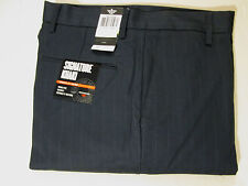 36 X 29 DOCKER FLAT FRONT D2 STRAIGHT FIT PINSTRIPED KHAKIS - MARITIME BLUE- NWT