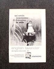 L984- Advertising Pubblicità -1960- ENGLISH LAVENDER ATKINSONS , LO STILE