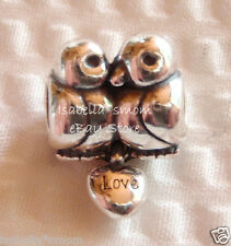 NEW Authentic PANDORA Sterling Silver~LOVE BIRDS~Valentines HEART Charm/Bead