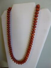 Red Sea Sponge Coral And Black Hematite Native Southwestern Style Necklace