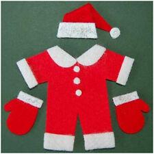 2 x DIE CUT FELT RED BABY SANTA SUIT SET EMBELLISHMENTS - CARD MAKING 7CM X 7CM