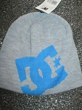 NEW DC SHOES SKATE Big Star BEANIE Cap HAT OSFA S M L Grey Blue