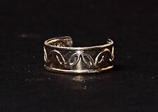 LADIES ELEGANT SILVER VINTAGE INSPIRED TOE RING UNIQUE SUMMER WEAR (ZX12)