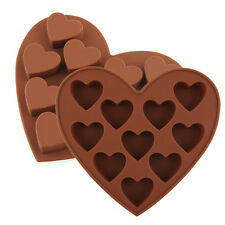 Heart Shape Silicone Chocolate Soap Cake decorating Mold Mould Tray Pan Maker