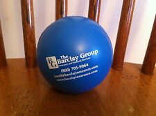 blue foam material toy bouncing ball  Barclay Group Insurance Financial Service