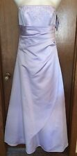 David's Bridal Lilac Formal Party Prom Bridesmaids Dress Size 10 NWT!