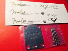 Chrome Fender Corona neck Plate and 3 Metallic waterslide decals spaghetti style