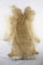 MAGIC SHOW Genuine rabbit fur skin color naturally fur Crafts-tanned brown