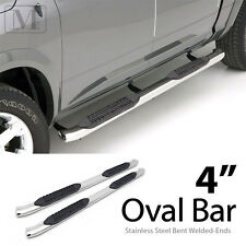 "FOR 2005-2016 TOYOTA TACOMA DOUBLE CAB Stainless Steel 4"" Bend-end NerfBar"