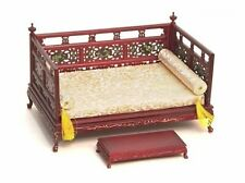 ORIENTAL OPIUM DAY BED 1:12 SCALE DOLLHOUSE MINIATURES Heirloom Collection