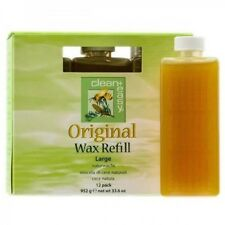 Clean+Easy Original Large Wax Refill for Waxing and Hair Removal 12 Pack 952g