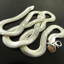 A449 GENUINE REAL 925 STERLING SILVER S/F SOLID ITALIAN DESIGN NECKLACE CHAIN