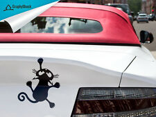 Funny Cute Cat Climbing  CAR DECAL  Window Decal / Sticker Vinyl Decals