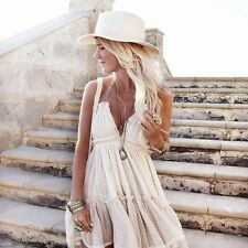 New Free People 100 Degree Ivory Sand Boho Party Beach Dress Sold Out - Medium