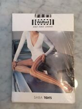 "WOLFORD ""SABA"" TIGHTS IN CHOCO CHIPS/WHITE - SZ S - BRAND NEW SEALED PACKAGE !!!"