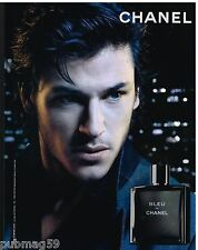Publicité Advertising 2012 Parfum Bleu de Chanel