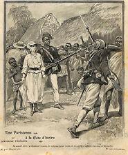 COTE D' IVOIRE VOYAGE DISSOU KOUAKROU ARTICLE PRESSE PAR GERMAINE THOMANN 1910
