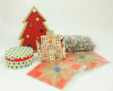 Vintage Boxes Garland Gold Christmas Ornament Holiday Tree Decoration Lot
