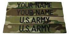 4 piece Multicam OCP Custom Name Tape & US ARMY Tape set, Sew-On
