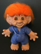 "Limited Edition Boy 9"" Thomas Dam Troll Doll  - Orange Hair and Glass Eyes"