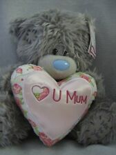 "Me To You Tatty Teddy 9"" bear pink & cream heart love U Mum"