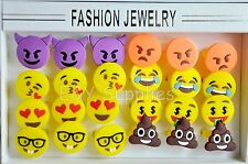 24 PCS Emoji Rings Emoticon Rings Birthday Party Favors