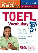 McGraw-Hill's PodClass TOEFL Vocabulary (MP3 Disk), , Stafford-Yilmaz, Lynn, Zwi