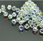 100pcs clear ab exquisite Glass Crystal 4mm #5301 Bicone Beads loose beads