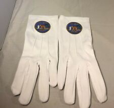 Order of the Eastern Star Queen of South White Gloves with Symbol-New!