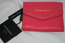 Cynthia Rowley hot pink leather tri fold small wallet NEW with TAGS RETAIL $58