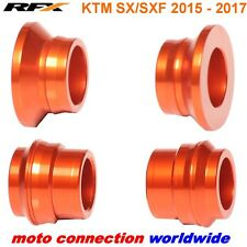 NEW RFX KTM FRONT AND REAR ORANGE WHEEL SPACERS KTM SXF250 SXF350 SXF450 2016