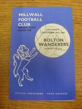 10/12/1966 Millwall v Bolton Wanderers  (Crease, Fold). Unless previously listed