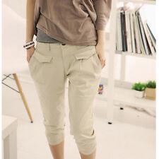 Women Summer Casual Hip Pop Cropped Pants Capris Harem Trousers 2016 New Fashion