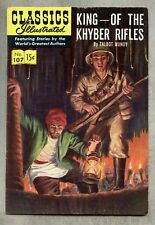 Classics Illustrated #107-1953 fn 1st edition Mundy King Of The Khyber Rifles