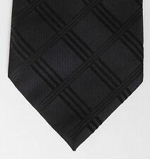 Controllo nero elegante cravatta da George Criss Cross Pattern Funerale Abbigliamento da lavoro ufficio