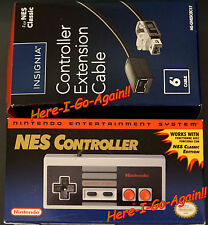 WOW! OFFICIAL NINTENDO NES CLASSIC EDITION CONTROLLER  AND an EXTENSION CABLE!!