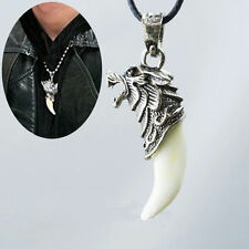 Beautiful Man Wolf Tooth Necklace Titanium Steel Domineering Pendant Jewelry