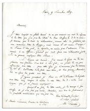 Napoleonic General Edme Aime Lucotte Autograph Letter